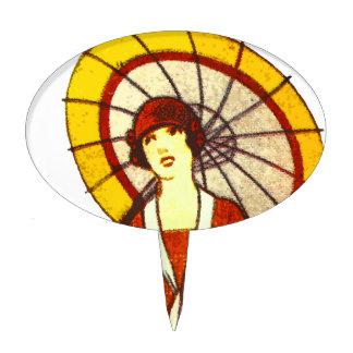 Vintage Umbrella Cake Topper