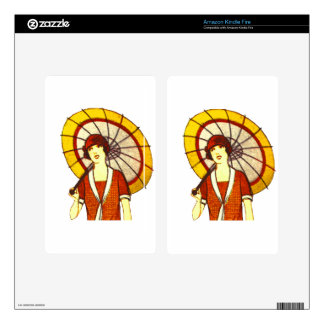Vintage Umbrella Decal For Kindle Fire