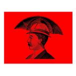 Vintage Umbrella Hat Steampunk Invention Post Card