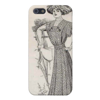 Vintage Umbrella Lady iPhone 4/4S Case