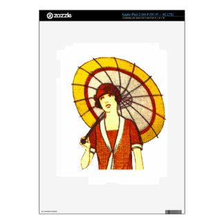 Vintage Umbrella Skins For iPad 3