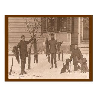 Vintage una caza iremos postal