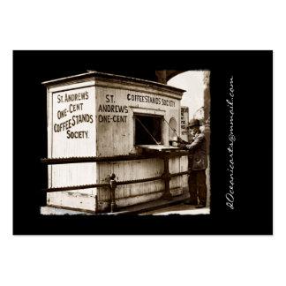 Vintage una muestra del café del centavo tarjeta de visita