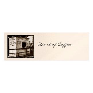 Vintage una muestra del café del centavo tarjetas personales