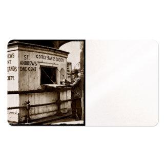 Vintage una muestra del café del centavo tarjeta de negocio