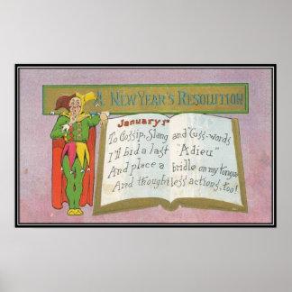 Vintage: Una resolución del Año Nuevo - Poster