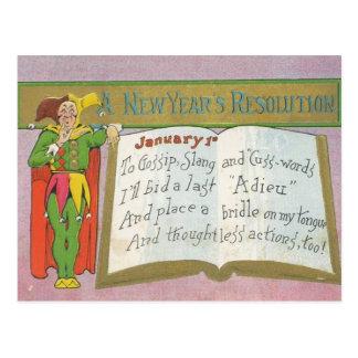 Vintage: Una resolución del Año Nuevo - Tarjeta Postal