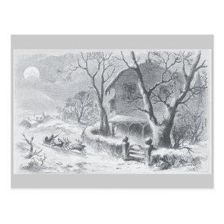 Vintage una visita de la pintura de Nicholas del s Postales
