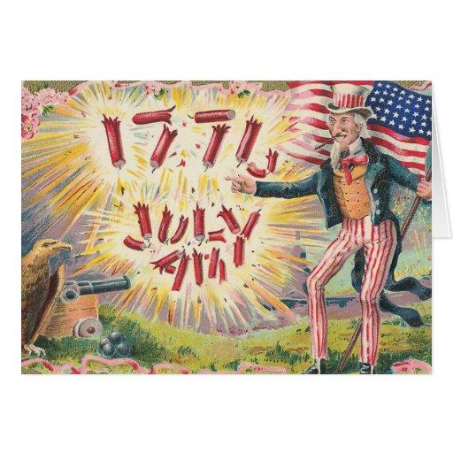 Vintage Uncle Sam 1776 Card