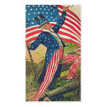 Vintage uncle sam bookmark Double-Sided standard business cards (Pack of 100)