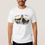 Vintage Uncle Sam Cigar Box Label July 4th Tee Shirt