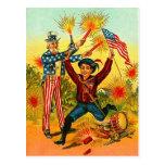 Vintage Uncle Sam Fireworks Postcards