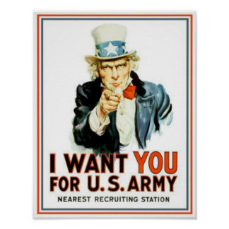 Vintage Uncle Sam I Want You Army Poster