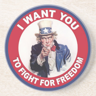 Vintage Uncle Sam I WANT YOU Sandstone Coaster