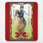 Vintage Uncle Sam Patriotic Mousepad