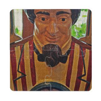 Vintage Uncle Sam Puzzle Coaster