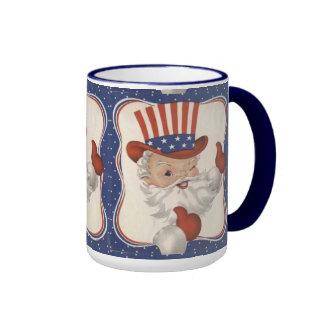 Vintage Uncle Sam Ringer Coffee Mug