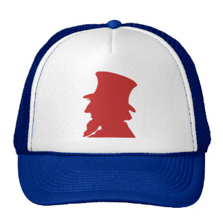 Vintage Uncle Sam Silhouette Graphic Bold American Trucker Hat
