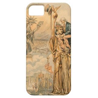 Vintage Uncle Sam Statue Liberty Republic Antique iPhone SE/5/5s Case