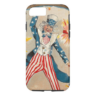 Vintage Uncle Sam Tossing Firecrackers Americana iPhone 8/7 Case