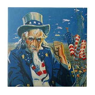 Vintage Uncle Sam Wants You Join Up Military Tile