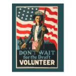 Vintage Uncle Sam War Postcard