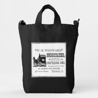 Vintage Undertaker Gothic Horror Canvas Tote Bag