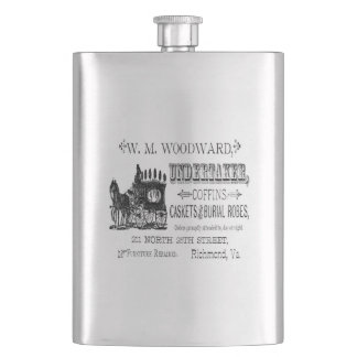 Vintage Undertaker Gothic Horror Classic Flask