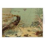 Vintage Underwater Ocean Scene with Sea Life Greeting Card