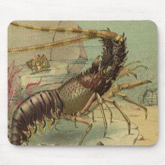 Vintage Underwater Ocean Scene with Sea Life Mouse Pad