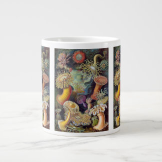 Vintage Underwater Sea Anemones by Ernst Haeckel Giant Coffee Mug