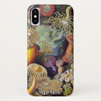 Vintage Underwater Sea Anemones by Ernst Haeckel iPhone X Case