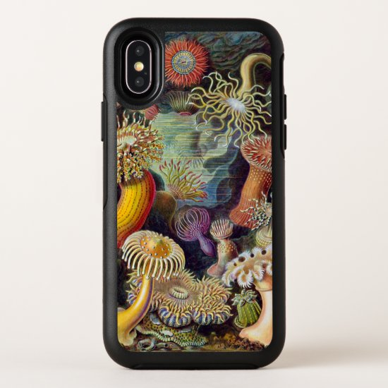 Vintage Underwater Sea Anemones by Ernst Haeckel OtterBox Symmetry iPhone X Case