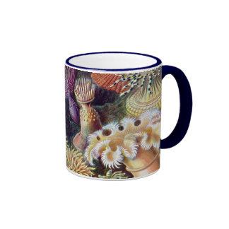 Vintage Underwater Sea Anemones by Ernst Haeckel Ringer Mug
