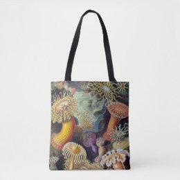 Vintage Underwater Sea Anemones by Ernst Haeckel Tote Bag