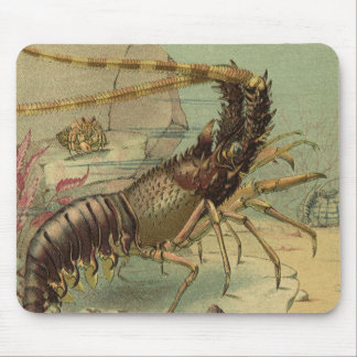 Vintage Underwater Sea Life, Animals in the Ocean Mouse Pad