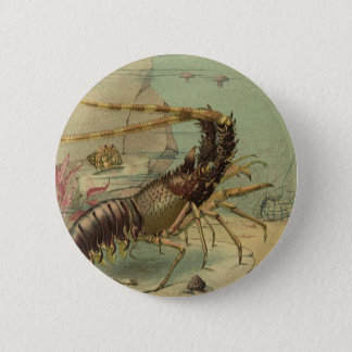 Vintage Underwater Sea Life, Animals in the Ocean Pinback Button