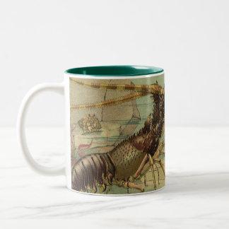 Vintage Underwater Sea Life, Animals in the Ocean Two-Tone Coffee Mug