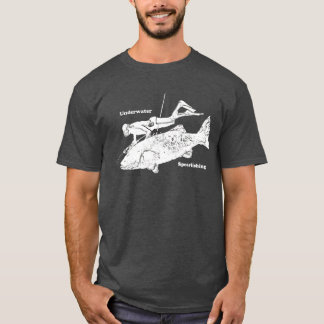 Vintage Underwater Spearfishing Free Diver T-Shirt