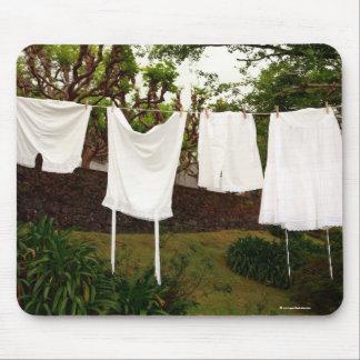 Vintage underwear laundry mouse pad