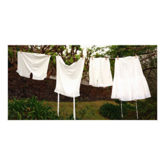 Vintage underwear laundry customized photo card