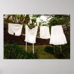 Vintage underwear laundry print