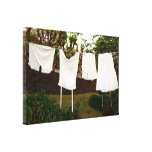 Vintage underwear laundry stretched canvas print