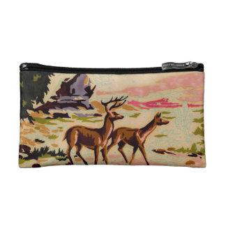 Vintage Unfinished PBN Deer Winter Cosmetic Bag