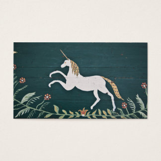 Vintage unicorn business card