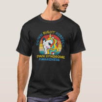 Vintage Unicorn Down Right Perfect Down Syndrome A T-Shirt