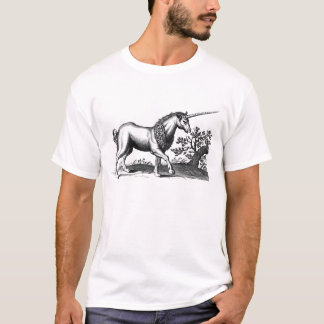 vintage unicorn engraving T-Shirt