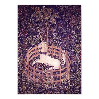 Vintage Unicorn In Captivity Tapestry Invitations