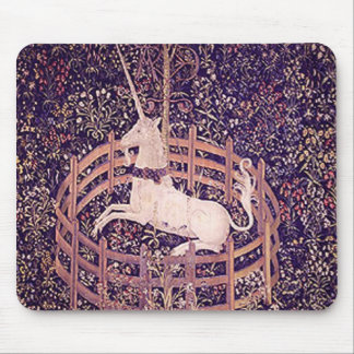 Vintage Unicorn In Captivity Tapestry Mouse Pad