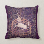Vintage Unicorn In Captivity Tapestry Pillow